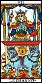 tarot numerologie 7 chariot carriage