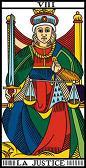tarot numerologie 8 justice