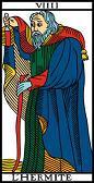 tarot numerologie 9 ermite